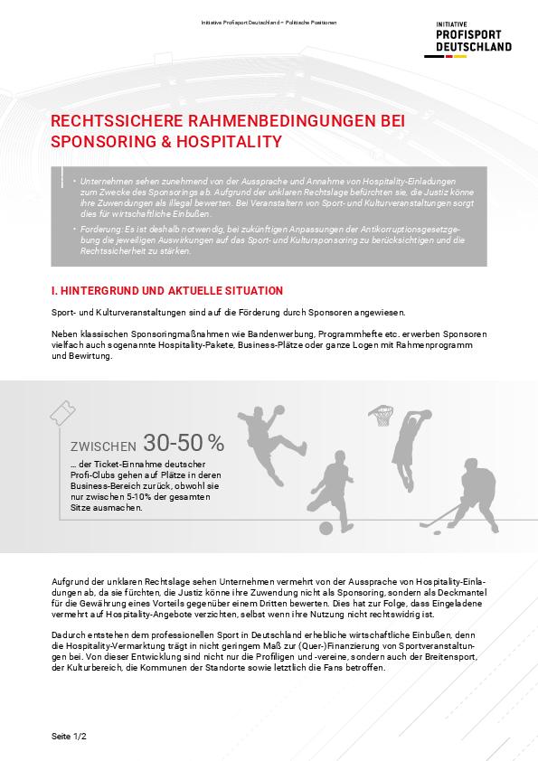 Rechtssichere Rahmenbedingungen bei Sponsoring & Hospitality